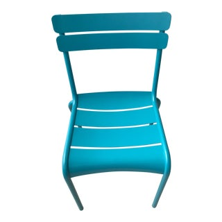 Fermob Turquoise Outdoor Luxembourg Chairs - a Pair