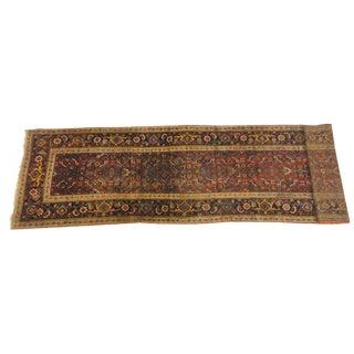 "Antique Persian Bijar Runner Rug - 14'1"" x 3'1"""