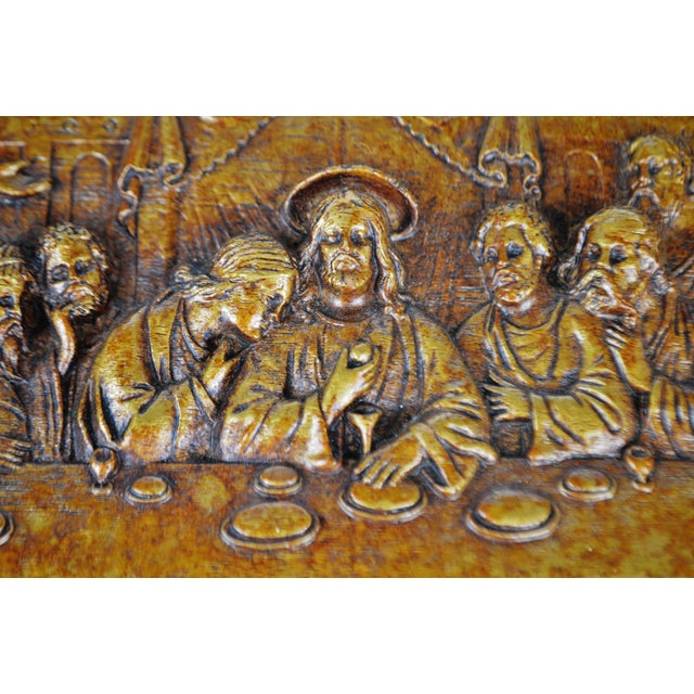 Vintage Last Supper Resin Wall Plaque Condition consistent with age and history. Please use zoom feature to check item...