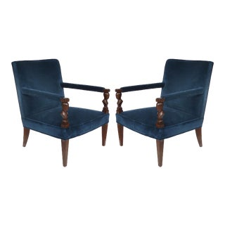 "Newly Upholstered Donghia ""Rushmore"" Armchairs by John Hutton-A Pair For Sale"