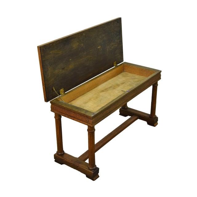 Tremendous 1900S Antique Golden Oak Piano Bench Chairish Machost Co Dining Chair Design Ideas Machostcouk