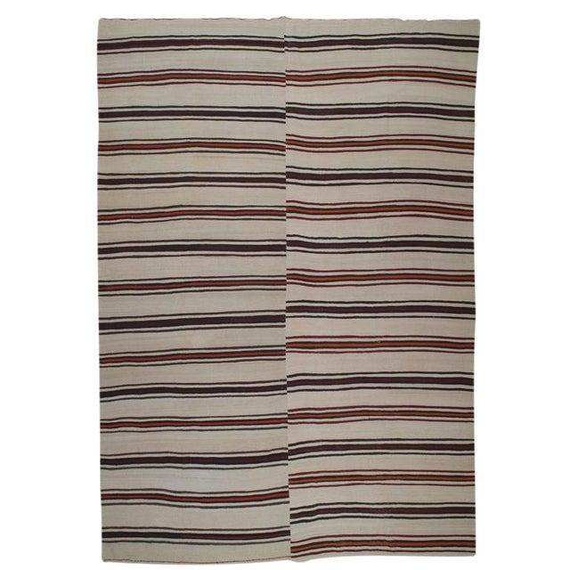 Large Banded Kilim For Sale