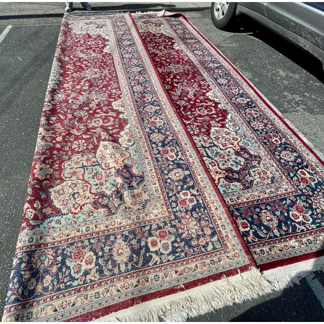 1990s Huge 12 by 16 Vintage Hand Made Persian Wool Rug For Sale In Los Angeles - Image 6 of 8