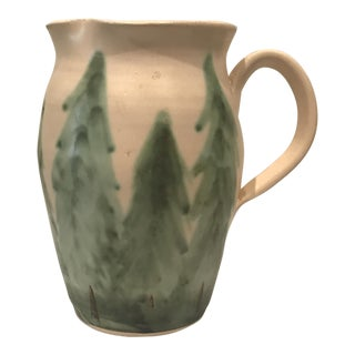 Art Pottery Evergreen Pitcher For Sale