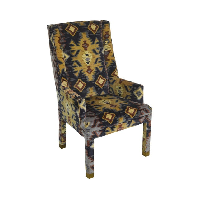 Henredon Vintage Southwood Upholstered Parsons Arm Chair For Sale - Image 13 of 13