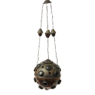 Antique Early 20th Century Moroccan Hanging Lantern For Sale