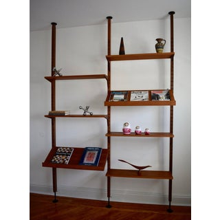 Mid Century Modern Teak Cado Tension Wall Unit Modular Preview