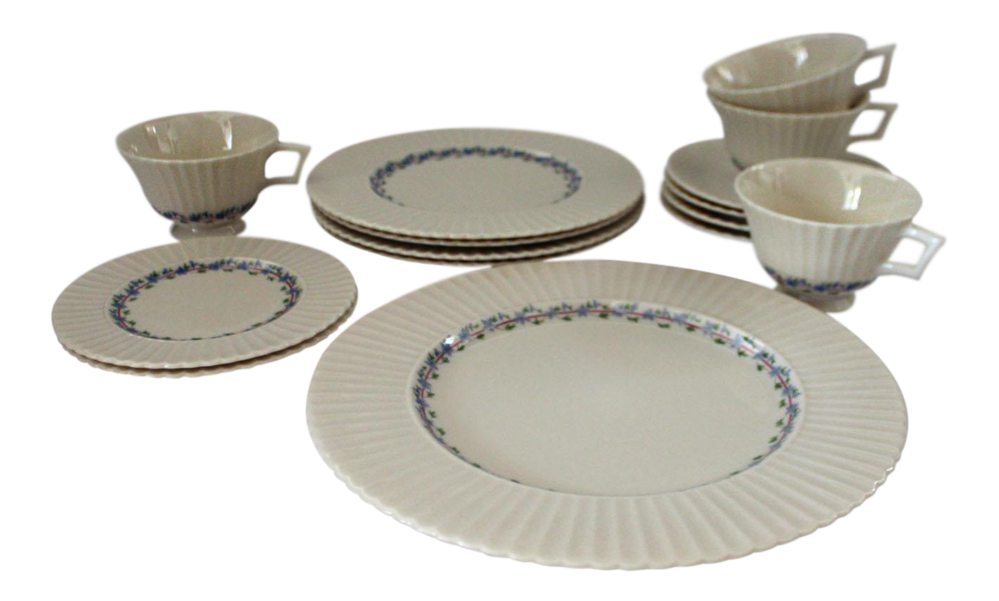 Beau Priscilla By Lenox Dining Set   14 Pieces