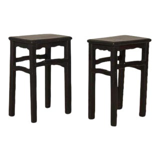 Late 19th Century Chinese Side Tables - a Pair For Sale
