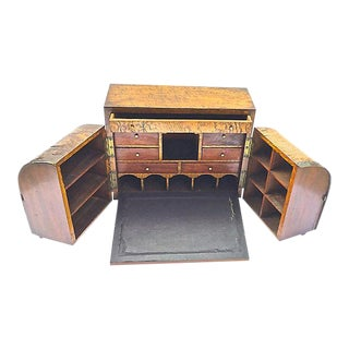 Antique Portable Traveling Folding Desk For Sale