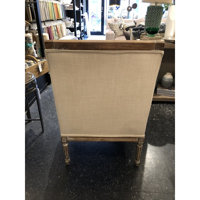 21st Century Kate Linen Chair For Sale In Chicago - Image 6 of 10