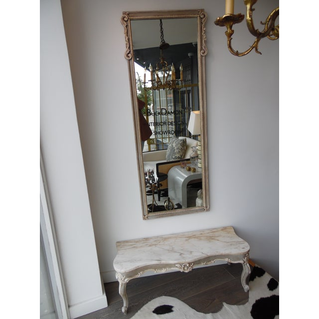 Mid-Century French Style Hall Table & Mirror For Sale - Image 9 of 9