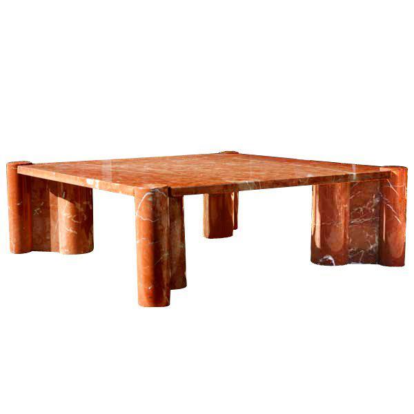 1965 Vintage Knoll Gae Aulenti Jumbo Marble Coffee Table