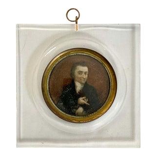19th Century Italian Portrait Miniature For Sale