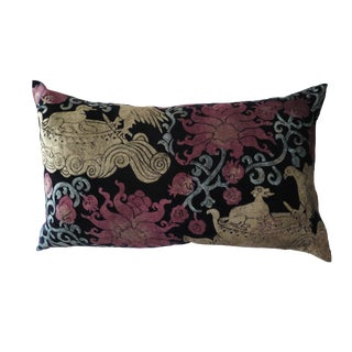 Venetian Silk Velvet Pillow For Sale