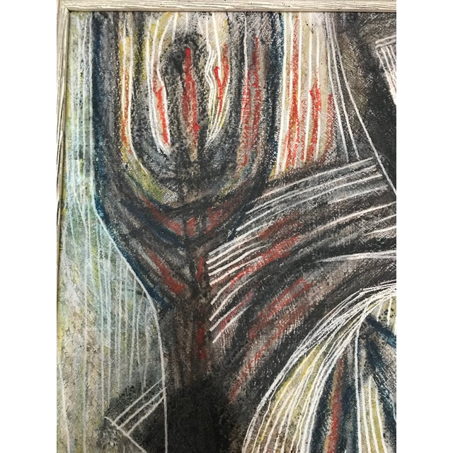 1950s Cubist Abstract Male Portrait Painting For Sale In Seattle - Image 6 of 8