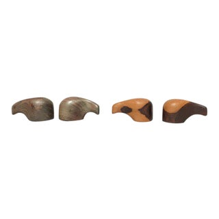 Don Shoemaker Exotic Wood Elephant Salt & Pepper Shakers - Set of 4