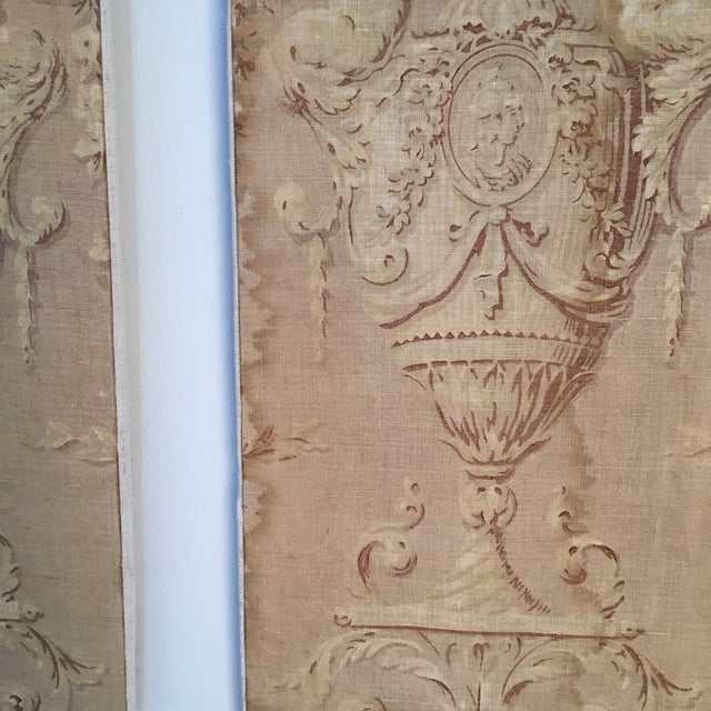 18th Century French Textile Printed Linen Panels - a Pair For Sale - Image 12 of 13