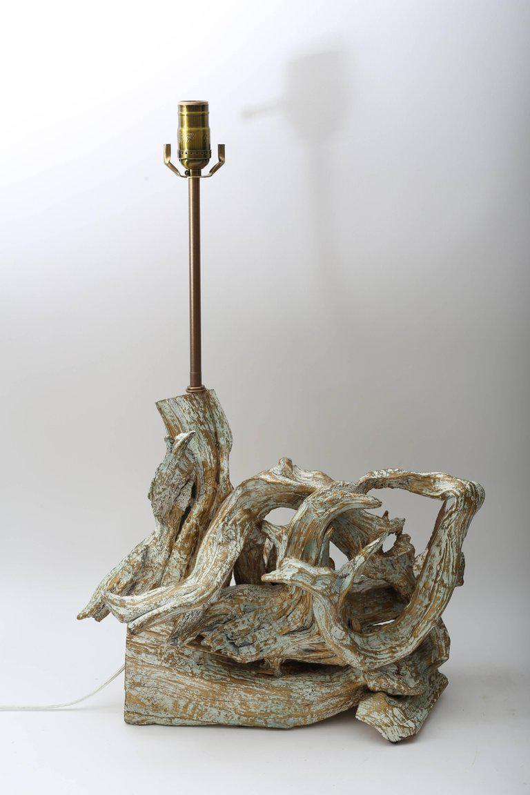 Pair Of Mid Century Modern Driftwood Table Lamps   Image 6 Of 11