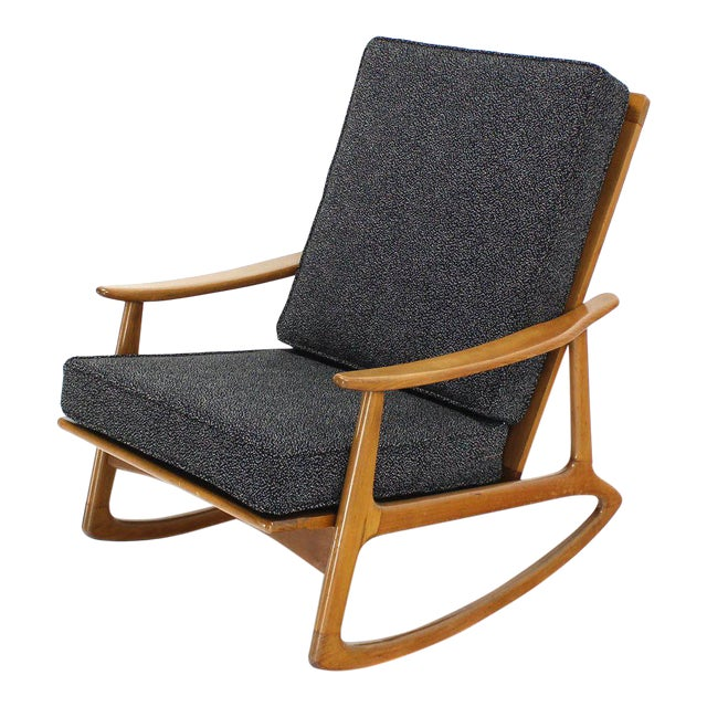 competitive price d75f4 53701 Danish Modern Rocking Lounge Chair New Upholstery
