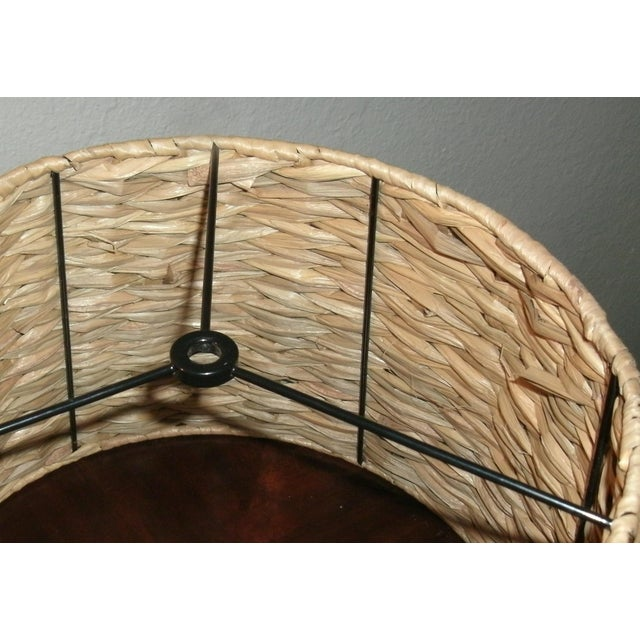Woven Rattan Lamp Shade For Sale - Image 4 of 7