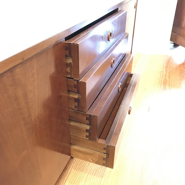Mid-Century Walnut Credenza For Sale In New York - Image 6 of 10