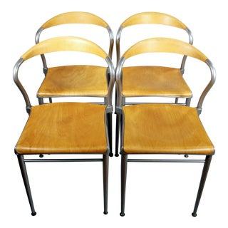 1980s Vintage Luigi Origlia Piuma Chairs- Set of 4 For Sale