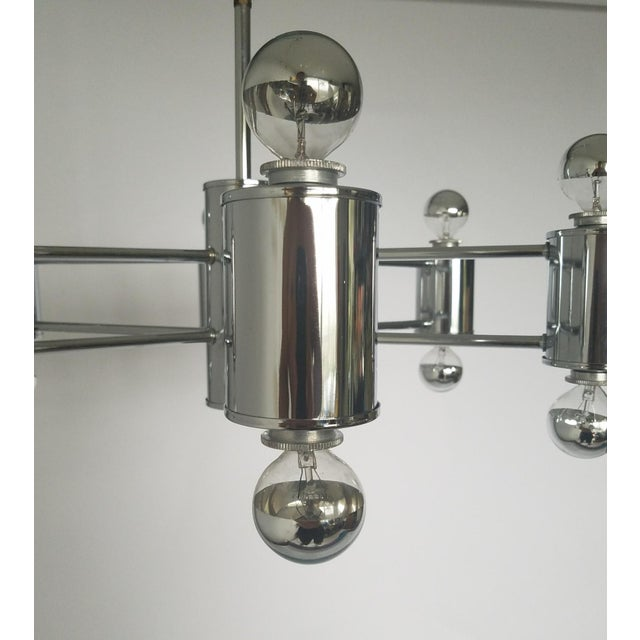 Mid 20th Century Mid-Century Modern Sciolaris Chrome Chandelier For Sale - Image 5 of 12