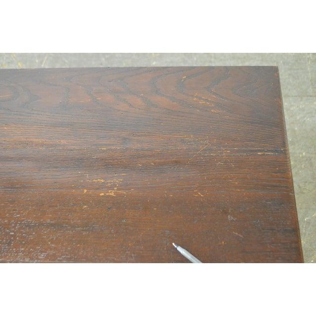 Antique 18th Century Oak Lidded Chest Coffer For Sale In Philadelphia - Image 6 of 10
