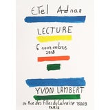 """Image of 2018 Etel Adnan """" Lecture"""" Yvon Lambert Poetry Reading Original Poster For Sale"""
