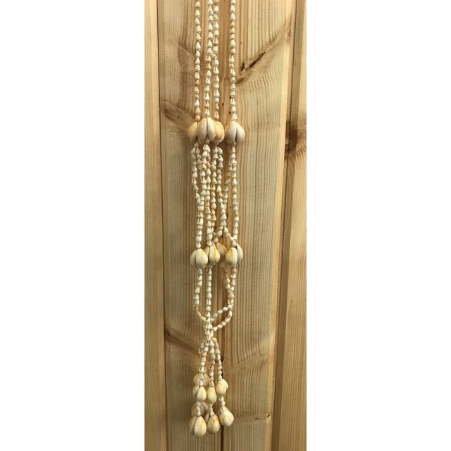 Mid 20th Century Vintage Shell Macrame Plant Holder For Sale - Image 5 of 10