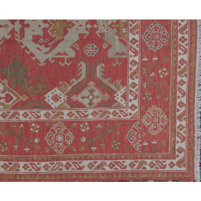 Soumak Design Hand Woven Wool Rug - 9' X 12' - Image 3 of 5