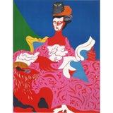 "Image of 1967 ""La Pompadour"" Lithograph by Nicolas Uriburu For Sale"