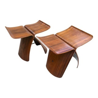 Original 1954 Sori Yanagi Butterfly Stools - a Pair For Sale