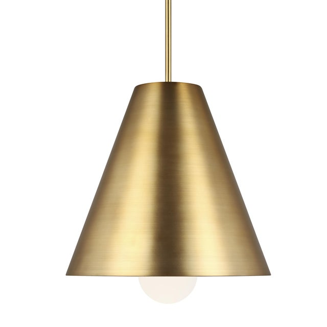 Joni Pendant by Sean Lavin for Tech Lighting features an integrated LED lamp suspended within a conical shade and creates...