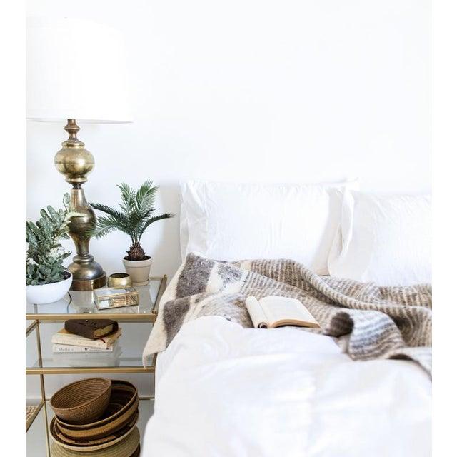 Grey & White Wool Blanket - Image 6 of 6