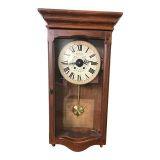 New England Clock Company Pendulum Clock For Sale