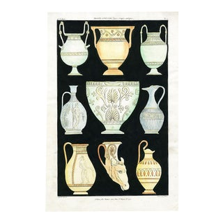 Ancient Greek Vases and Urns Series 1 Print on Paper For Sale