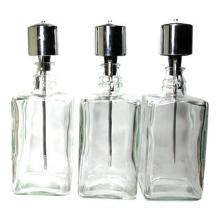 Vintage Pump Decanter - Set of 3