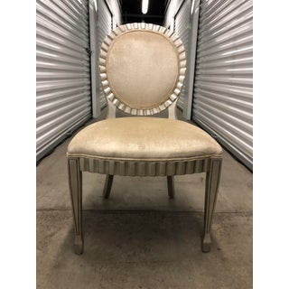 Cream and Silver Wood Trimmed Chair Preview