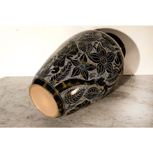 Lourdes Martinez Etched Ceramic Vase - Image 3 of 3