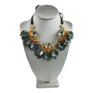 J Crew Runway Statement Necklace For Sale