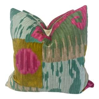 "Pierre Frey ""Bella Coola"" Acid/Lime 22"" Pillows-A Pair For Sale"