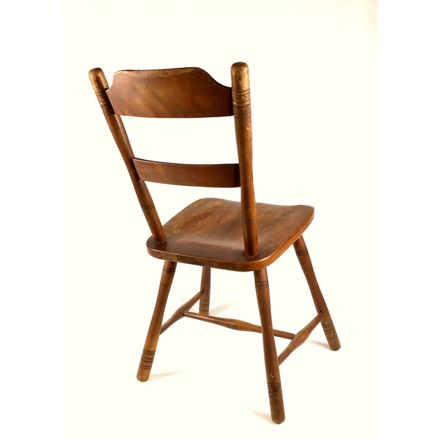 Wood Early 18th Century Antique Myles Standish Line Wood Chair For Sale - Image 7 of 13