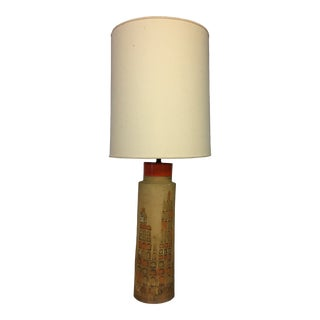 Aldo Londi Campus Ceramic Table Lamp by Bitossi Italy For Sale