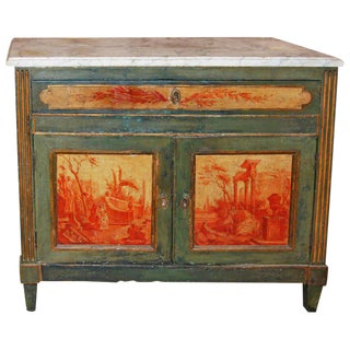 Napoleon III Chinois Marble Top Buffet