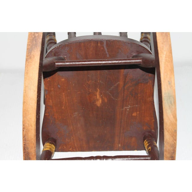 19th Century York County Pennsylvania, Original Painted Child's Rocking Chair - Image 5 of 9