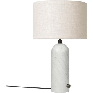 White Marble 'Gravity' Table Lamp by Space Copenhagen for Gubi For Sale