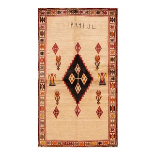 "Apadana - Vintage Persian Gabbeh Rug, 3'7"" x 6'5"""