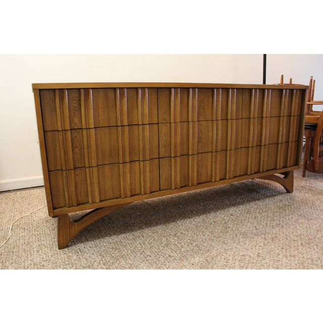 Mid Century Hidden Pull Credenza on Boomerang Legs - Image 2 of 11